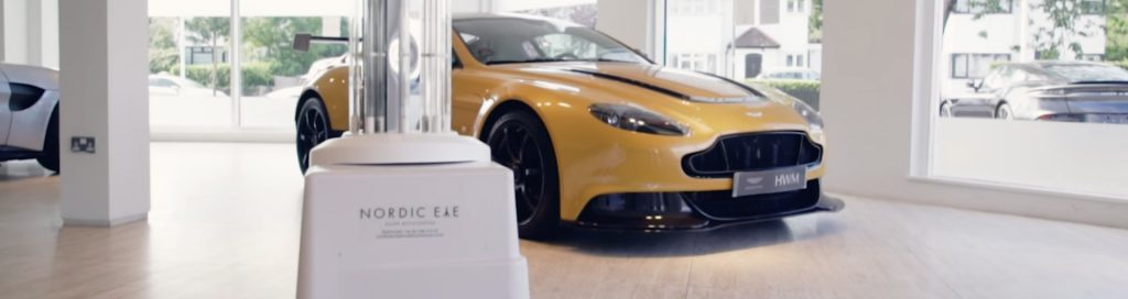 UVD Robot inside HWM Aston Martin showroom