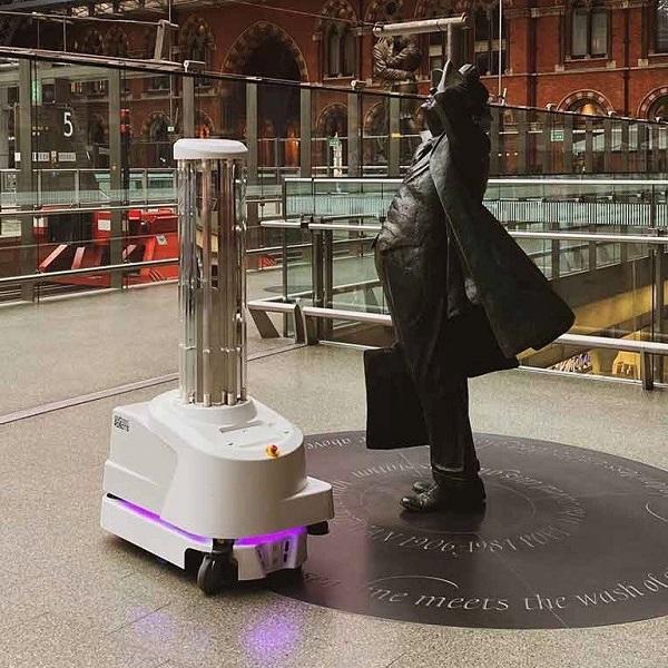 UVD Robot at St Pancras International