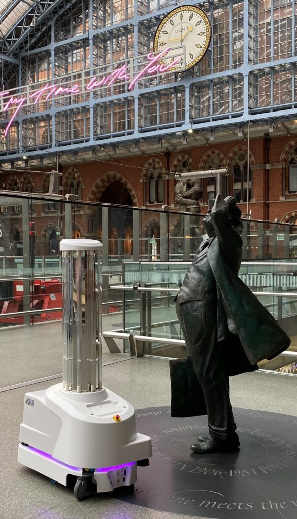 UVD Robot at St Pancras