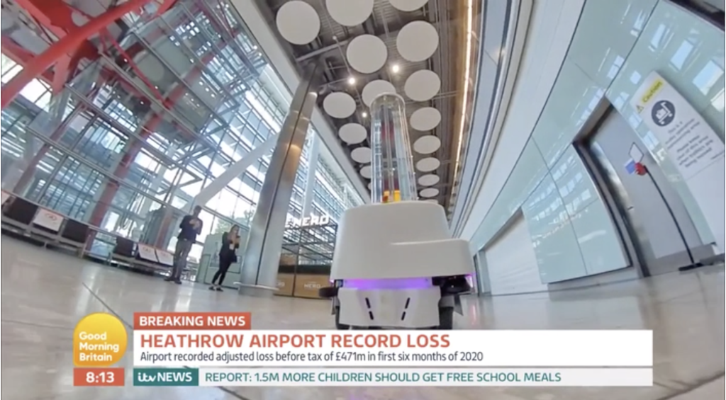 UVD Robot at Heathrow being used to help protect the future of Aviation