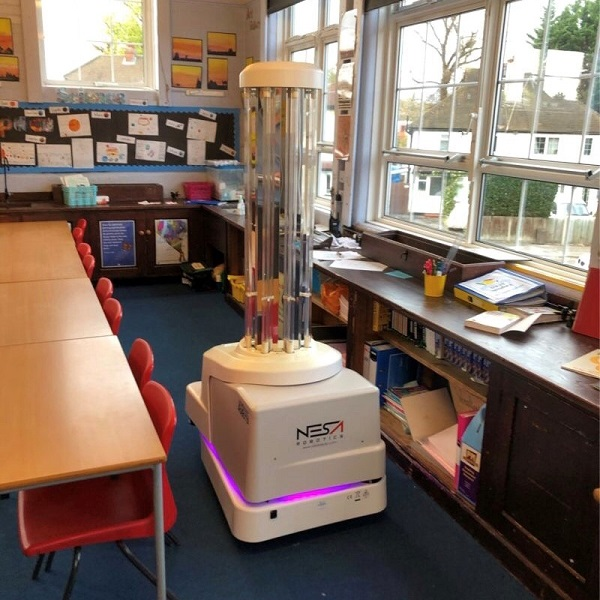 UVD Robot at West Byfleet Primary School supporting the education industry