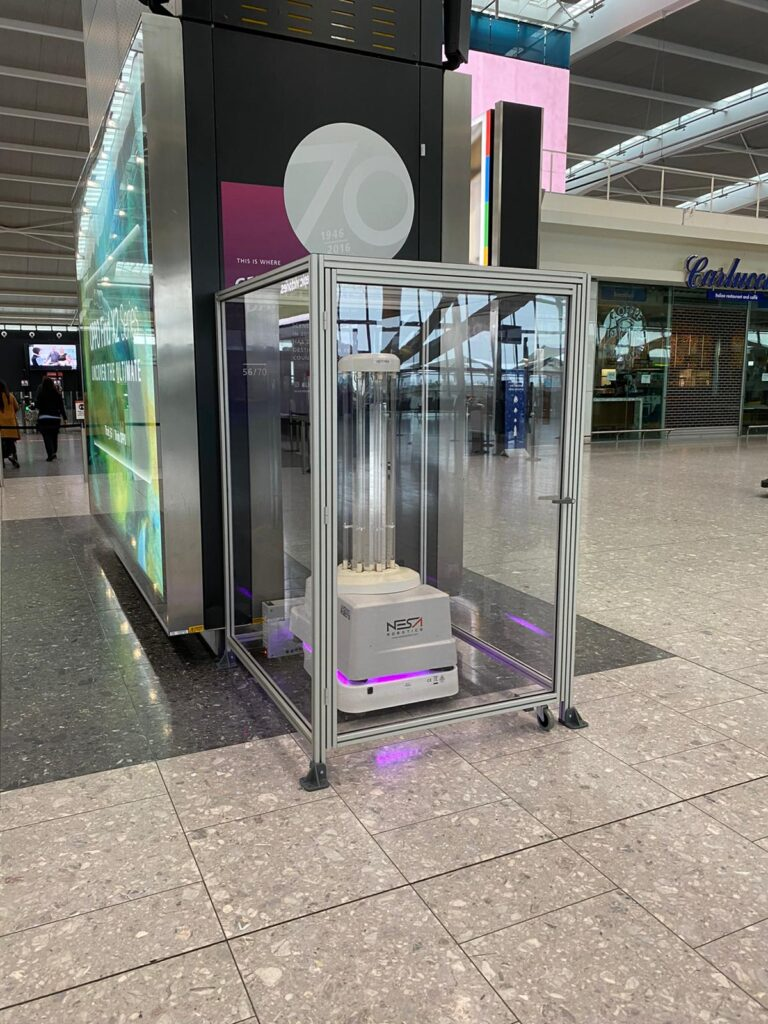 UVD Robot at Heathrow Airport for references and testimonials